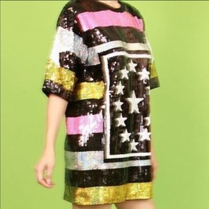 Sequins Top also can be worn as an Dress size xl